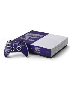 Kansas State Wildcats Distressed Xbox One S Console and Controller Bundle Skin
