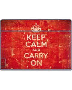 Keep Calm and Carry On Distressed Galaxy Book Keyboard Folio 12in Skin