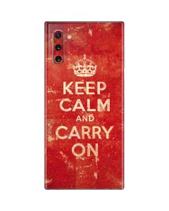 Keep Calm and Carry On Distressed Galaxy Note 10 Skin