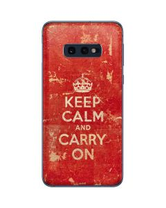 Keep Calm and Carry On Distressed Galaxy S10e Skin
