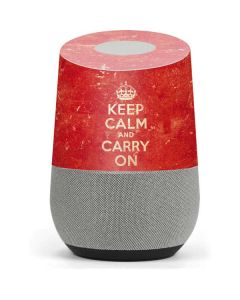 Keep Calm and Carry On Distressed Google Home Skin