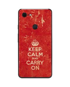 Keep Calm and Carry On Distressed Google Pixel 3 XL Skin