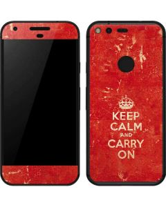 Keep Calm and Carry On Distressed Google Pixel Skin