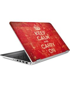 Keep Calm and Carry On Distressed HP Pavilion Skin