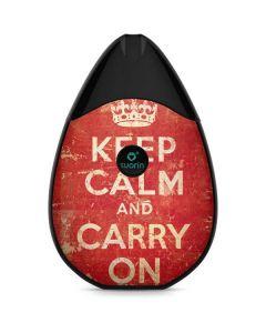 Keep Calm and Carry On Distressed Suorin Drop Vape Skin