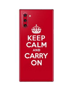 Keep Calm and Carry On Galaxy Note 10 Skin