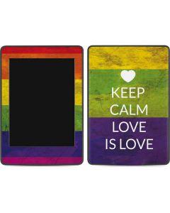 Keep Calm Love Is Love Amazon Kindle Skin