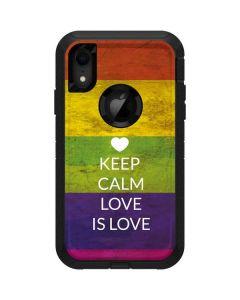 Keep Calm Love Is Love Otterbox Defender iPhone Skin
