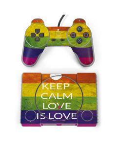Keep Calm Love Is Love PlayStation Classic Bundle Skin