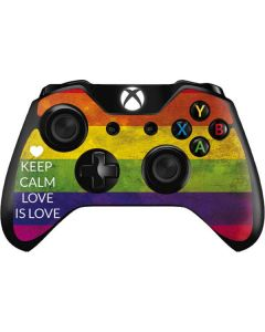 Keep Calm Love Is Love Xbox One Controller Skin