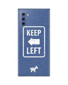 Keep Left Galaxy Note 10 Skin