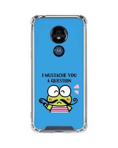 Keroppi I Mustache You A Question Moto G7 Power Clear Case