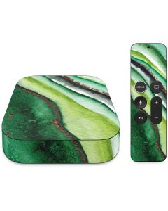 Kiwi Watercolor Geode Apple TV Skin