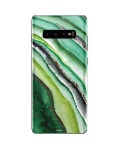 Kiwi Watercolor Geode Galaxy S10 Plus Skin