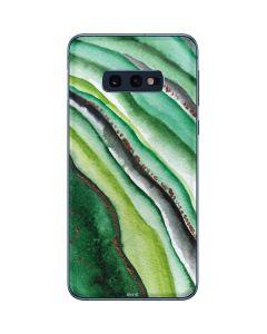 Kiwi Watercolor Geode Galaxy S10e Skin