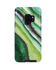 Kiwi Watercolor Geode Galaxy S9 Pro Case