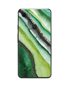 Kiwi Watercolor Geode Google Pixel 3 XL Skin