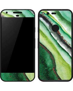 Kiwi Watercolor Geode Google Pixel Skin