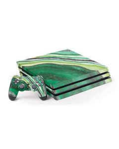 Kiwi Watercolor Geode PS4 Pro Bundle Skin