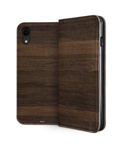 Kona Wood iPhone XR Folio Case