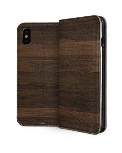 Kona Wood iPhone XS Folio Case