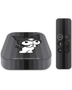Kuromi Black and White Apple TV Skin