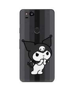 Kuromi Black and White Google Pixel 2 Skin