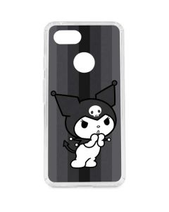 Kuromi Black and White Google Pixel 3 Clear Case