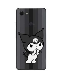 Kuromi Black and White Google Pixel 3 XL Skin
