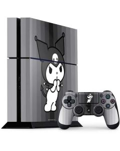 Kuromi Black and White PS4 Console and Controller Bundle Skin