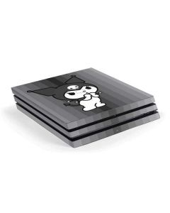 Kuromi Black and White PS4 Pro Console Skin