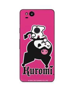 Kuromi Bold Print Google Pixel 2 Skin