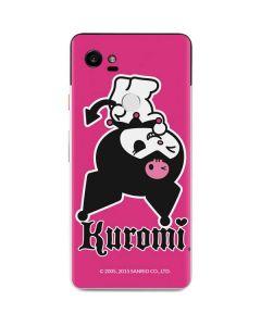 Kuromi Bold Print Google Pixel 2 XL Skin
