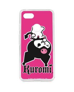 Kuromi Bold Print Google Pixel 3 XL Clear Case