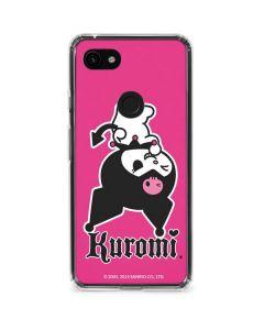 Kuromi Bold Print Google Pixel 3a Clear Case