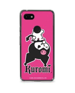 Kuromi Bold Print Google Pixel 3a XL Clear Case
