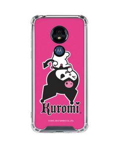 Kuromi Bold Print Moto G7 Power Clear Case