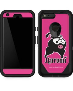 Kuromi Bold Print Otterbox Defender Pixel Skin