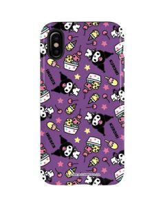 Kuromi Pattern iPhone X Pro Case
