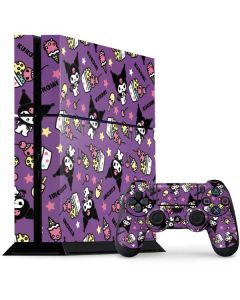 Kuromi Pattern PS4 Console and Controller Bundle Skin
