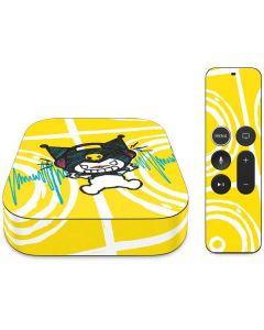 Kuromi Rocker Girl Yellow Stereos Apple TV Skin