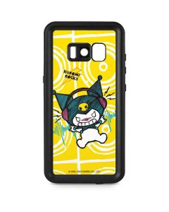 Kuromi Rocker Girl Yellow Stereos Galaxy S8 Plus Waterproof Case