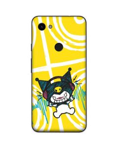 Kuromi Rocker Girl Yellow Stereos Google Pixel 3a Skin