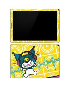 Kuromi Rocker Girl Yellow Stereos Google Pixel Slate Skin