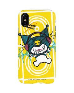 Kuromi Rocker Girl Yellow Stereos iPhone X Pro Case