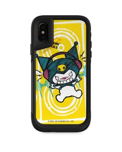Kuromi Rocker Girl Yellow Stereos Otterbox Pursuit iPhone Skin