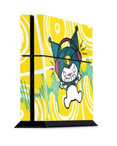 Kuromi Rocker Girl Yellow Stereos PS4 Console Skin