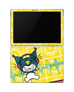 Kuromi Rocker Girl Yellow Stereos Surface Pro 6 Skin