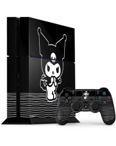Kuromi Stripes PS4 Console and Controller Bundle Skin