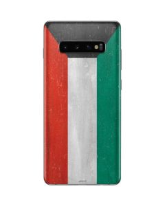 Kuwait Flag Distressed Galaxy S10 Plus Skin